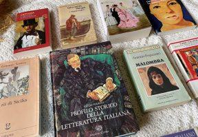 Alcuni libri del gruppo di lettura sulla letteratura italiana